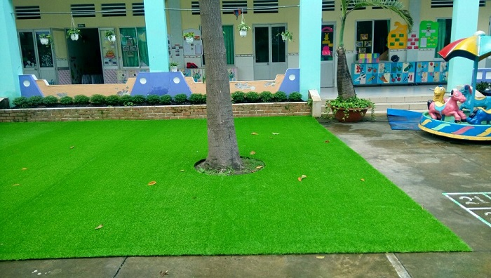 Quy trình thi công cỏ nhân tạo ở Hoa Thịnh Phát