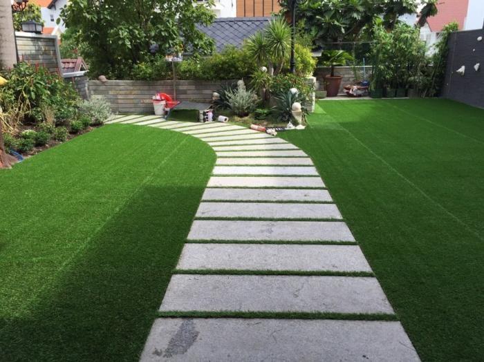Những bước cơ bản trong thi công sân vườn cỏ nhân tạo