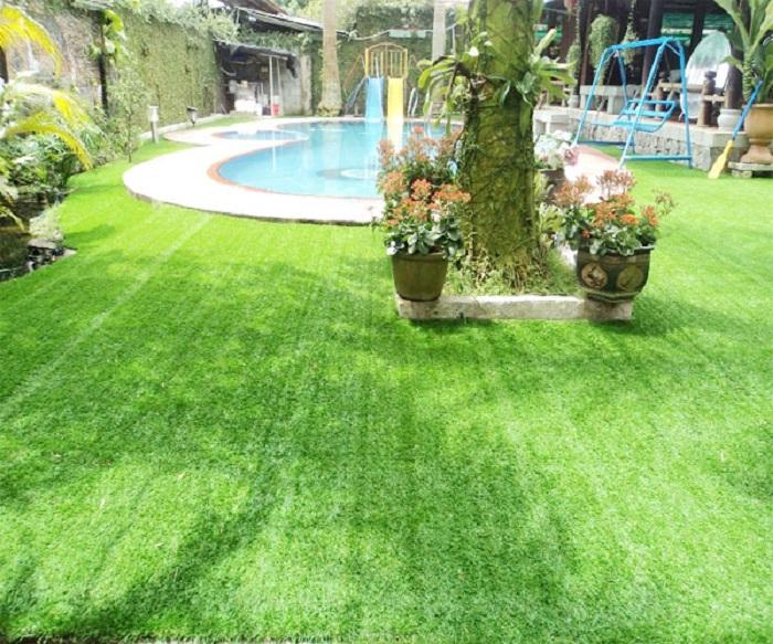 Sân cỏ nhân tạo tại Long An mang đến không gian xanh, an toàn cho sức khỏe mọi người