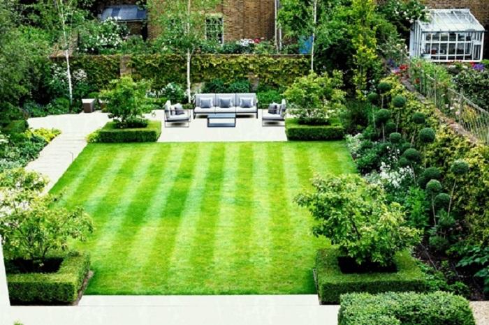 Sử dụng cỏ nhân tạo trong trang trí nội thất